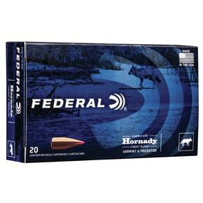 Federal Varmint & Predator Rifle Ammunition .22-250 Rem 40 gr V-MAX 3800 fps 4200 fps 20/ct