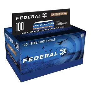 "Federal Speed-Shok Shotshells 12 ga 3"" 1-1/4oz 1450 fps #2 100/ct"
