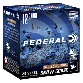 "Federal Speed-Shok Snow Goose Shotshells 12 ga 3"" 1-1/4oz 1450 fps #BB 25/ct"