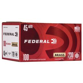 Federal Champion Training Handgn Ammuntion .45 ACP 230 gr FMJ 830 fps 100/ct
