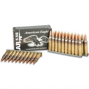 Federal American Eagle Tactical Stripped Rifle Ammunition 5.56mm Nato M193 55 gr FMJ 3165 fps 30/ct