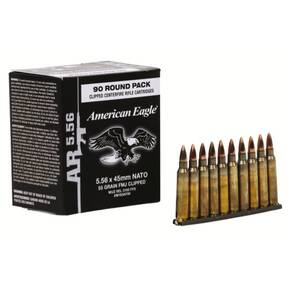 Federal American Eagle Tactical Rifle Ammunition 5.56mm Nato M193 55 gr FMJ 3165 fps 90/ct
