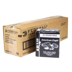 Federal American Eagle Tactical Rifle Ammunition 5.56mm Nato M193 55 gr FMJ 3165 fps 900/ct