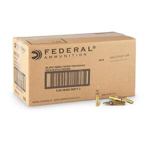 Federal American Eagle XM193 Ammunition 5.56mm 55 gr FMJ 3165 fps 1000/ct (Bulk)