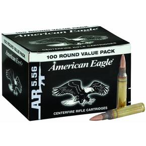 Federal XM193 NATO Ammunition -  5.56mm 55gr FMJ 100ct