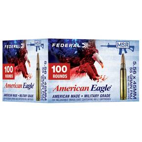 Federal American Eagle XM193 Ammunition 5.56mm 55 gr FMJ 3165 fps 100/ct