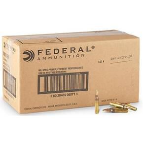 Federal XM193 NATO Tactical Rifle Ammunition 5.56mm 55 gr FMJ 3165 fps 500/ct (25 Boxes of 20rds)