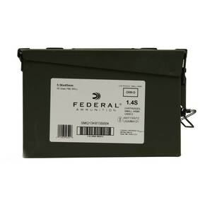 Federal XM193 NATO Rifle Ammunition 5.56mm 55gr FMJ 3165 fps 400/ct (Ammo Can)