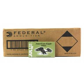 Federal American Eagle Green Tip Rifle Ammunition Nato 5.56mm 62gr FMJ 3020 fps 500/ct