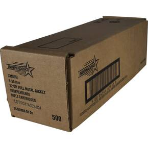 Federal Independence XM855 Ammunition 5.56mm 62gr FMJ 3020 fps 500/ct