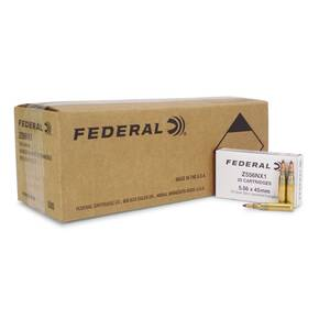 Federal Military Rifle Ammunition 5.56mm 50 gr Frangible 2820 fps 500/ct (25-20ct Boxes)