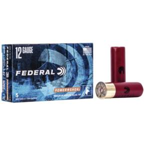 "Federal Power-Shok Shotshells 12GA 2-3/4"" 1-1/4oz 1520 fps HP Rifled Slug 5/ct"