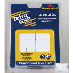 Tetra Pro Smith .17 -22 Caliber Cleaning Patches Pack 800