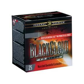 "Federal Black Cloud FS Steel Shotshells 12ga. 3-1/2"" 1-1/2oz #BB 25/ct"