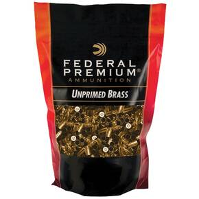Federal Premium Unprimed Brass Handgun Cartridge Cases 100/ct 9mm