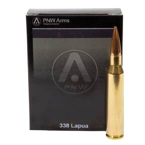 PNW Arms Sniper Rifle Ammunition .338 Lapua Mag 300 gr HPBT 10/ct