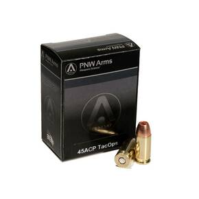 PNW Arms TacOps Handgun Ammunition .45 ACP 185 gr SCHP 965 fps 20ct