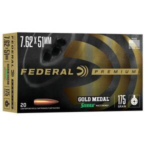 Federal Gold Medal Rifle Ammunition 20/ct