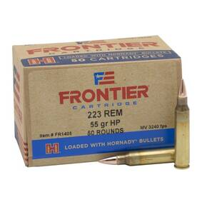 Hornady Frontier Rifle Ammunition .223 Rem 55 gr HP Match 3240 fps  50/ct