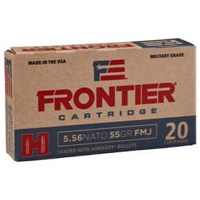 Hornday Frontier Rifle Ammunition . 223 Rem 55 gr FMJ 20/ct