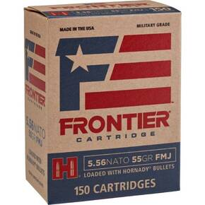 Hornday Frontier Rifle Ammunition . 223 Rem 55 gr FMJ 150/ct