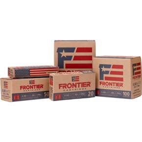 Hornady Frontier XM193 Oriented Rifle Ammunition 5.56mm 55gr FMJ 3240 fps 150/ct