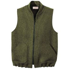 Filson Mackinaw Wool Zip In Vest or Liner - 24-oz. Mackinaw Wool Forrest Green
