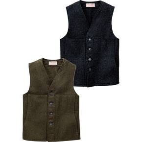 Filson Mackinaw Wool Vest - Alaska Fit Forest Green
