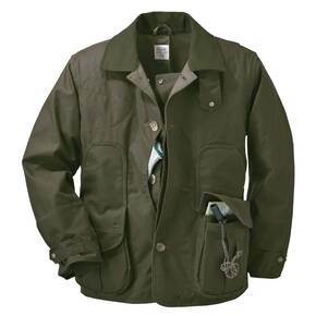 Filson Shelter Waterfowl Upland Coat - Otter Green Shelter Cloth