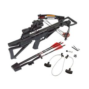 Carbon Express Intercept Varmint Crossbow Package with 4x32 Varmint Hunter Scope Laser & Light