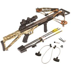 Carbon Express Covert Bloodshed Crossbow Package with 4x32 Illuminated Scope / Folding Foregrip - Camo
