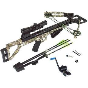 Carbon Express Covert Tyrant Crossbow Package with 4x32 Scope & Crank Cocker - Badlands Approach Camo