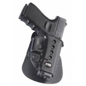Fobus Evolution Series Paddle Holster For Ruger LCP w/ Crimson Trace in Black Right Hand