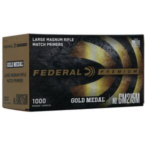 Federal Premium Gold Medal Centerfire Primers-Large Magnum Rifle Match 1000/ct