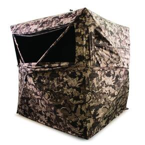 "HME 3-Person Pop-Up Ground Blind 75x75x67"" - Cervidae Camo"