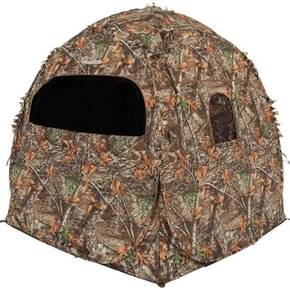 "HME 2-Person Spring Steel 75 Pop-Up Ground Blind 58x58x57"" - JM Camo"