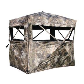 Muddy Outdoors The Garage 4x6 Hub Ground Blind with Wheel Chair Accessible Entrance