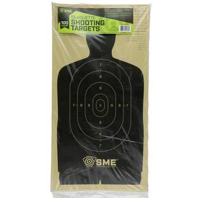 SME Silhouette Shooting Targets - 100/ct