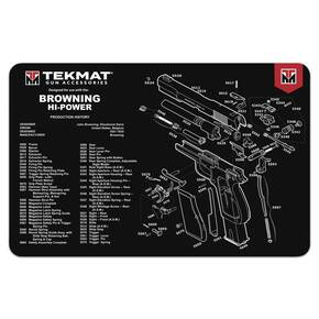 TekMat 11x17 Gun Cleaning Mat- Browning Hi Power