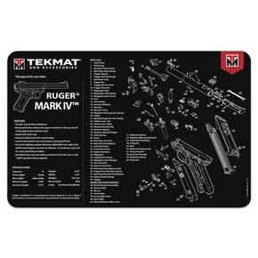 TekMat 11x17 Gun Cleaning Mat- Ruger Mark IV TekMat