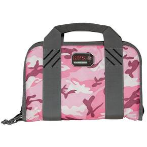 G-Outdoors Double Pistol Case with Magazine Storage & Dump Cup-Pink Camo