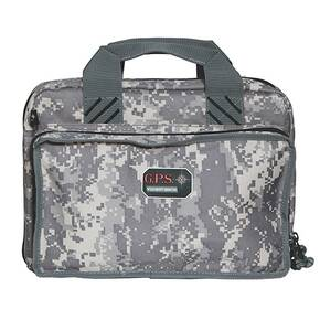 G-Outdoors Quad Pistol Range Bag with Magazine Storage & Dump Cups-Fall Camo