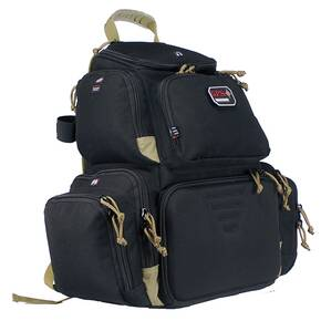 G-Outdoors Handgunner Backpack with 4 Handgun Cradle-Black/Tan