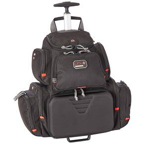 G-Outdoors Rolling Handgunner Backpack with 4 Handgun Cradle-Black
