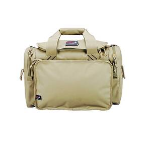 G-Outdoors Large Range Bag with Lift Ports & 4 Ammo Dump Cups-Tan