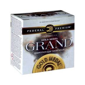 "Federal Gold Medal Grand Shotshells 12ga 2-3/4"" 1-1/8oz 1235 fps #8 25/ct"