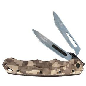 Havalon Piranta-Stag Game Knife with 6 Additional #60A SS Blades, Desert Digital Camo