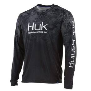 Huk Icon Camo Fade Performance Knits Crew SubPhantis Mens