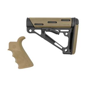 Hogue AR-15/M-16 2-Piece Buttstock Kit Flat Dark Earth - Grip and Collapsible Buttstock - Fits Mil-Spec Buffer Tube