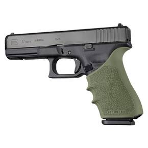 Hogue HandAll Beavertail Grip Sleeve Glock 17, G17L, G19X, G34, G34 MOS Gen 1-2-5 OD Green